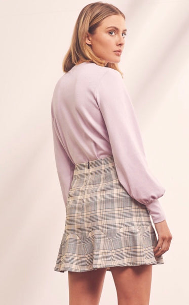 The Fifth Label - Landmark Check Skirt Black with White