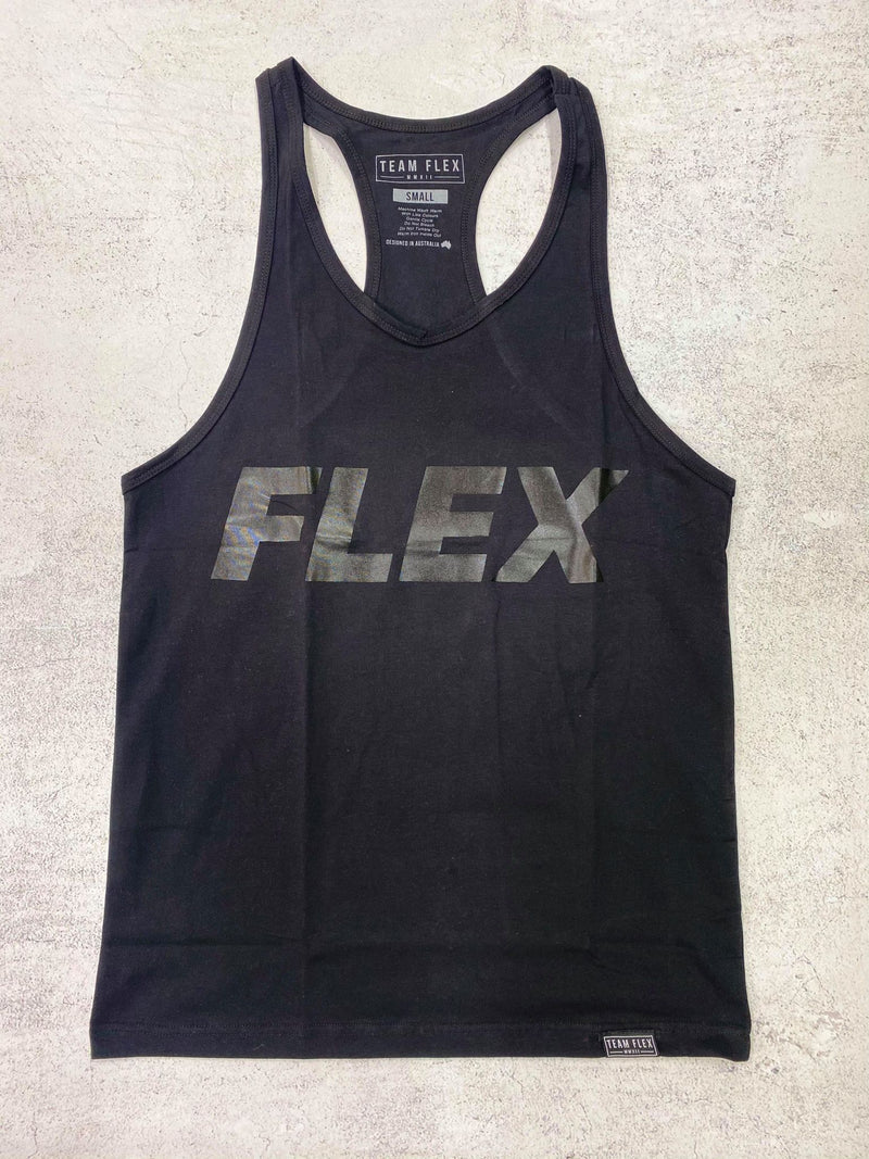 TEAM FLEX BLACK ON BLACK STRINGER
