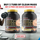 MAX'S CLEAN MASS TWIN PACK + FREE CREATINE
