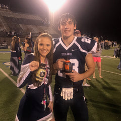 Richlands Cheerleader and Football Player