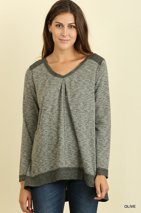 Scoop Neck A-Line Tunic with Side Slit