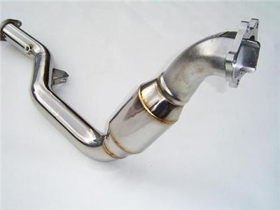 Invidia 2005-2009 Subaru Legacy GT Automatic Polished Divorced Waste Gate Downpipe with High Flow Cat
