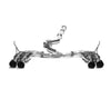 Invidia 2011-2014 Subaru WRX / STI Gemini R400 Single Layer Quad Stainless Steel Tip Cat-back Exhaust