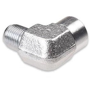 IAG 90 Degree 1/8 inch NPT Male to Female Zinc Plated Fitting