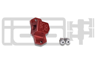 IAG MAP Sensor Adapter for 2002-07 Subaru WRX, 04+ STI, 04-08 FXT (Red Finish)
