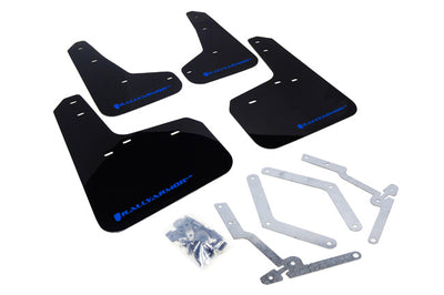 Rally Armor 2012+ Ford Focus Mud Flaps Blue Logo