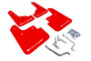 Rally Armor 2014-18 Mazda3 Red Mud flap White logo