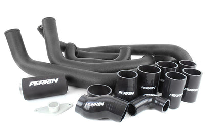 PERRIN Boost Tube Box Subaru 2015+ WRX Black Boost Tubes with Black Couplers