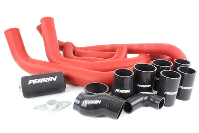 PERRIN Boost Tube Box Subaru 2002-2007 WRX/ 2004-2007 STI Red Tubes w/ Black Couplers
