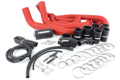 PERRIN Boost Tube Box 08-14 WRX Red Boost Tubes with Black Couplers