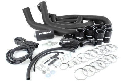 PERRIN Boost Tube Box 08-14 WRX Black Boost Tubes with Black Couplers