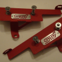 Move Over Racing Subaru 2008-14  STI / 2011-14 Wrx Front Bumper Quick Release Kit – Red Crinkle Coat Brackets