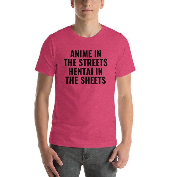 Anime in the Streets Hentai in the Sheets T-Shirt