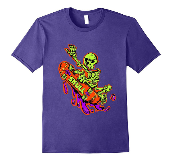 Best Skateboarding T-Shirts Skeleton Skateboard Tee Shirt