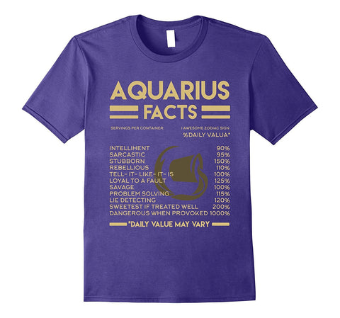 Aquarius Facts T-Shirt Astrological Zodiac Birthday Gift
