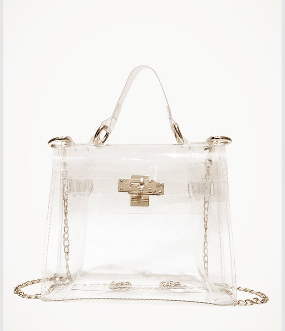 Clear Chain Satchel