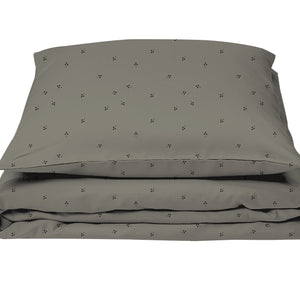 Baby Bedding Grey Tree Dots