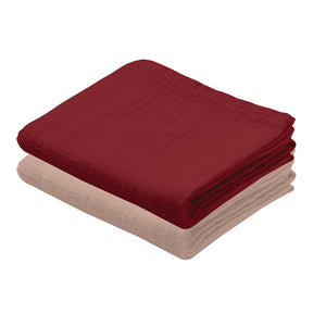 Muslin Cloth Cherry/Red (Pack of 2)