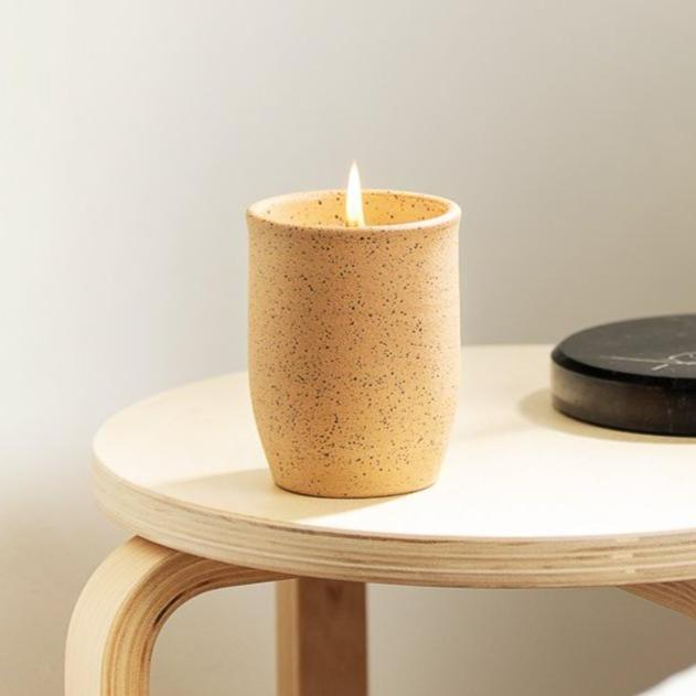 Ceramic Tumbler Soy Candle // 12 oz