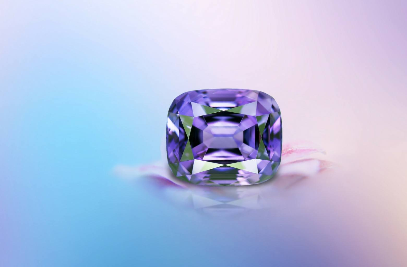 17 carat cushion cut Amethyst from Brazil