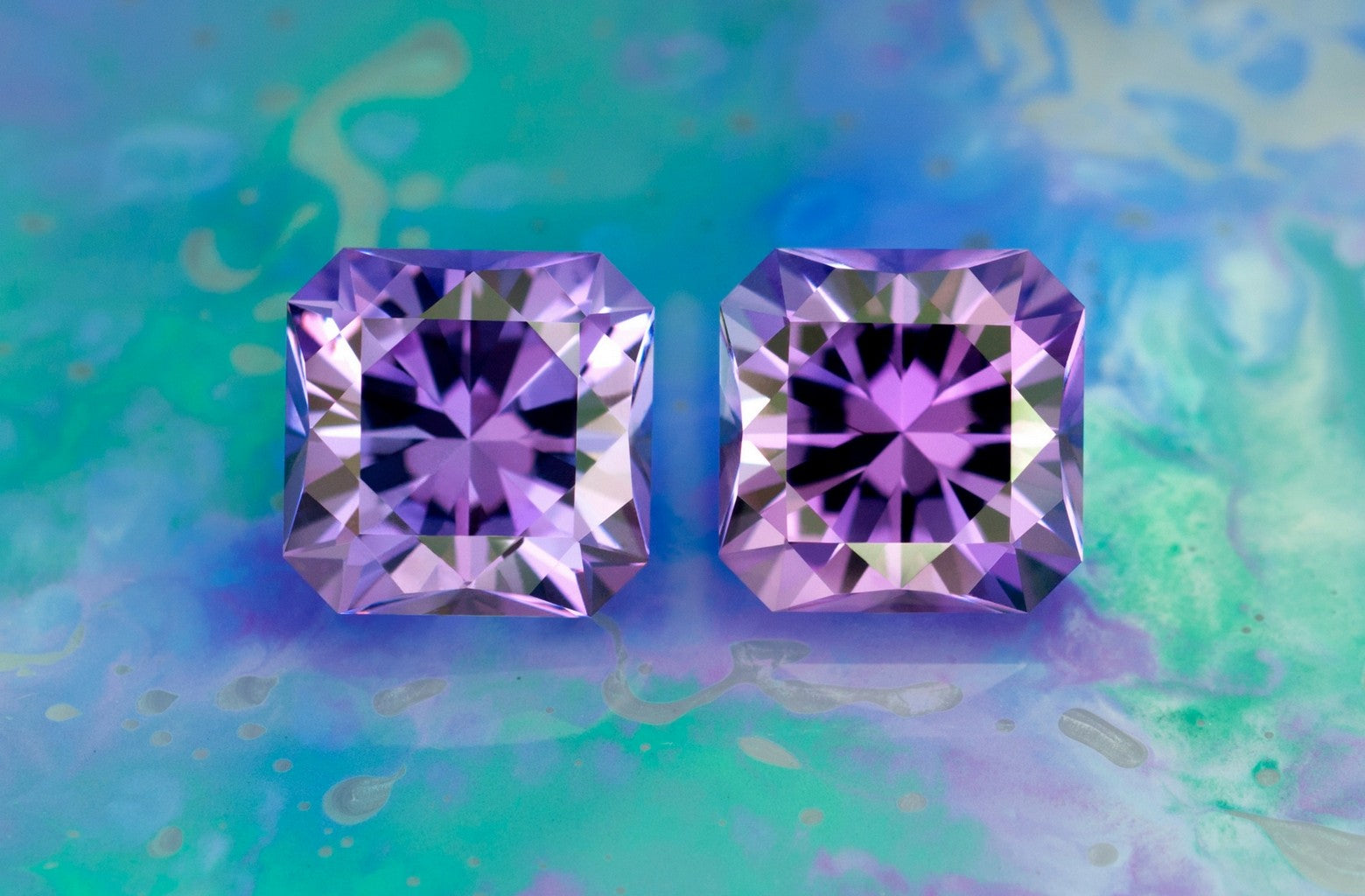 Matched pair of Amethyst