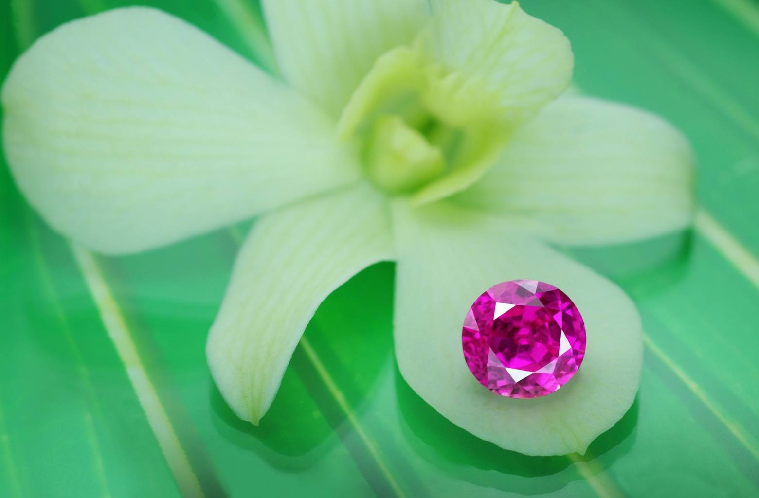 about 8 carat  unheated vivid pink Sapphire from Burma