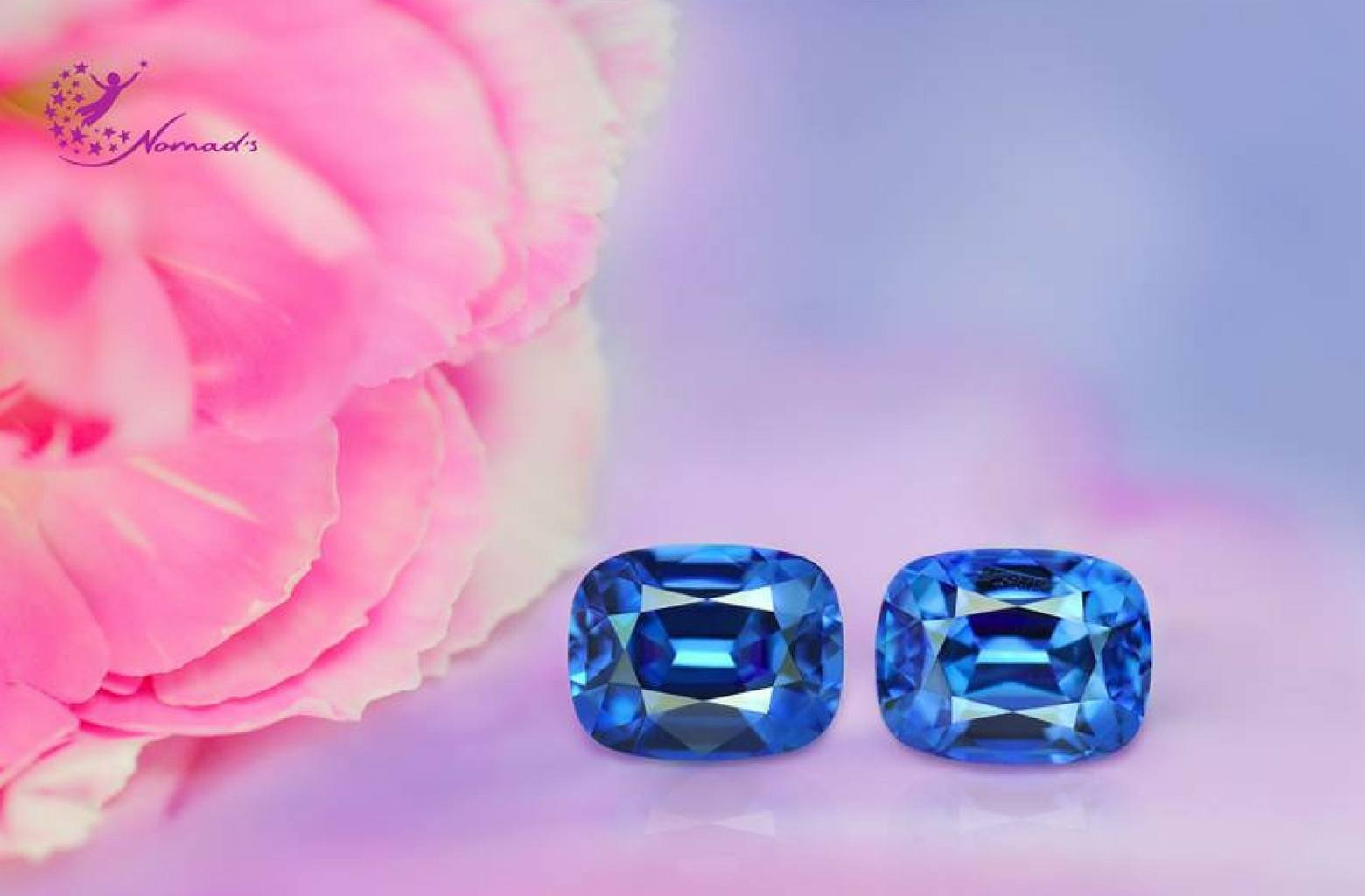 3 carat pair of unheated sapphires from madagascar