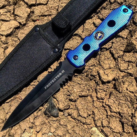 "12"" Tactical Hunting Knife Full Tang With Sheath"