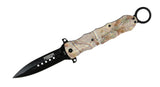 "10"" Defender Extreme Spring Assisted Camouflage Knife with Stainless Steel Blade"