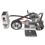 Fucina 1x30 Belt Grinder 110V/60Hz 0.9Hp Servo Motor with VFD and Horizontal Position for Knife Making