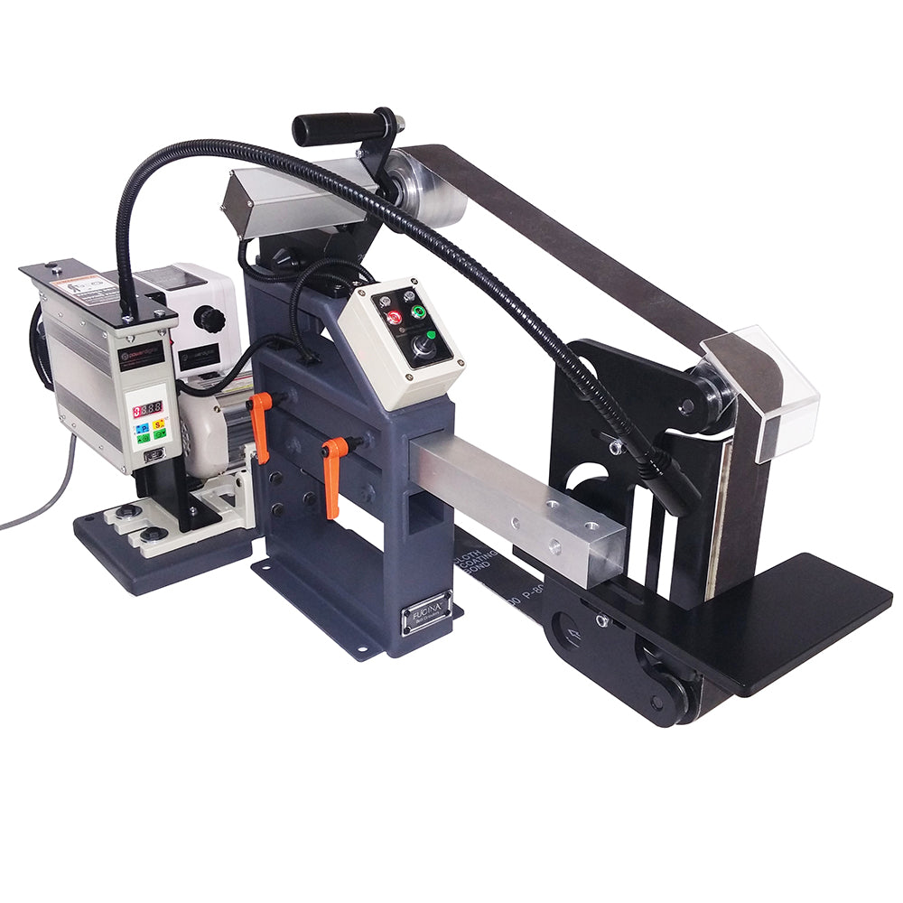2x72 Belt Grinder 110V/60Hz 2.25Hp Motor with VFD and Electronic Tracking Control