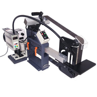 2x72 Belt Grinder 230V/50Hz 1.1hp Motor with VFD and Electronic Tracking Control