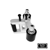 "2x72 Belt Grinder Small Wheel Holder set with Deflector Wheel Bracket & 2"" wheel for knife Grinders"