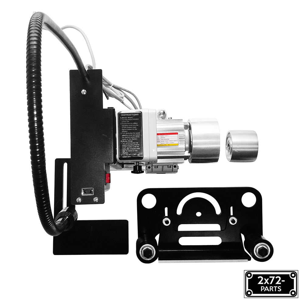 2x72 Belt Grinder Motor 230V/50Hz 1.1hp with VFD - Drive Wheel - Light D-Backing Plate & Platen