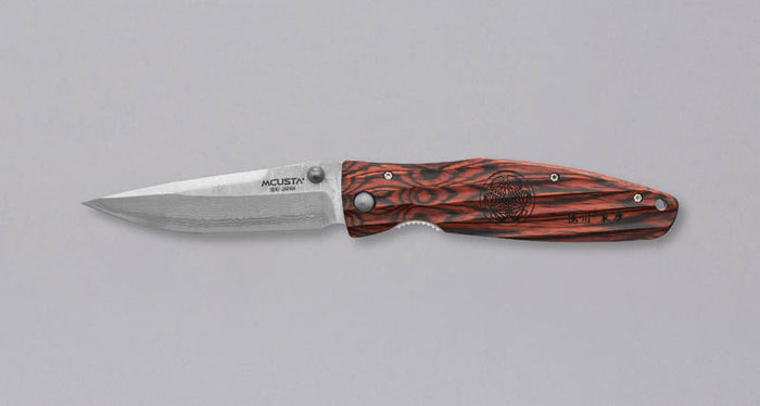 "Mcusta Folding Knife Tokugawa Damascus 94mm (3.7"")"