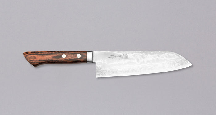 "Etsu Village Damascus Santoku 170mm (6.7"")"
