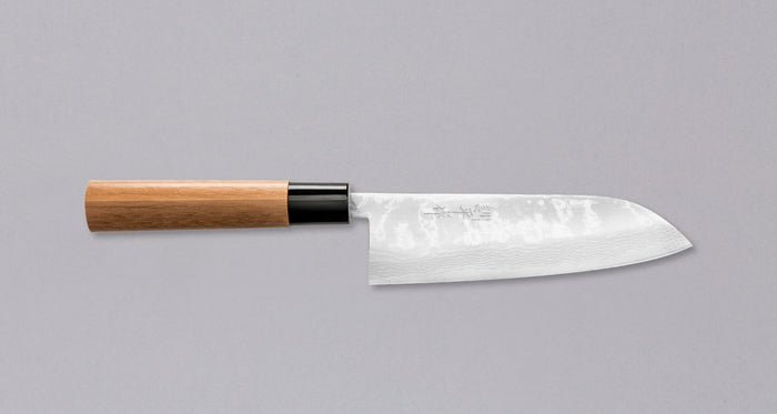 "Etsu Village Damascus Santoku Wa 170mm (6.7"")"