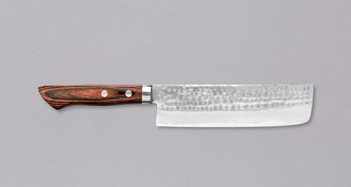 "Etsu Village Hammered Nakiri 170mm (6.7"")"