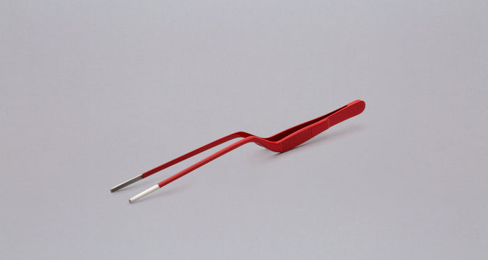 "Plating Tweezers RED - 200mm (7.9"")"