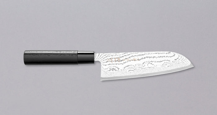 "Tojiro Santoku Black Damascus 165mm (6.5"")"