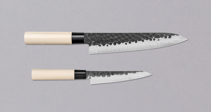 [SET] Tojiro DP Hammered Gyuto + Petty {-10%}