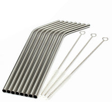 Stainless Steel Straws with Cleaner Brushes Set - Eco Friendly | Living Zero