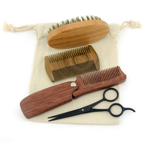 Men's Grooming Bamboo Kit - Eco Friendly | Living Zero