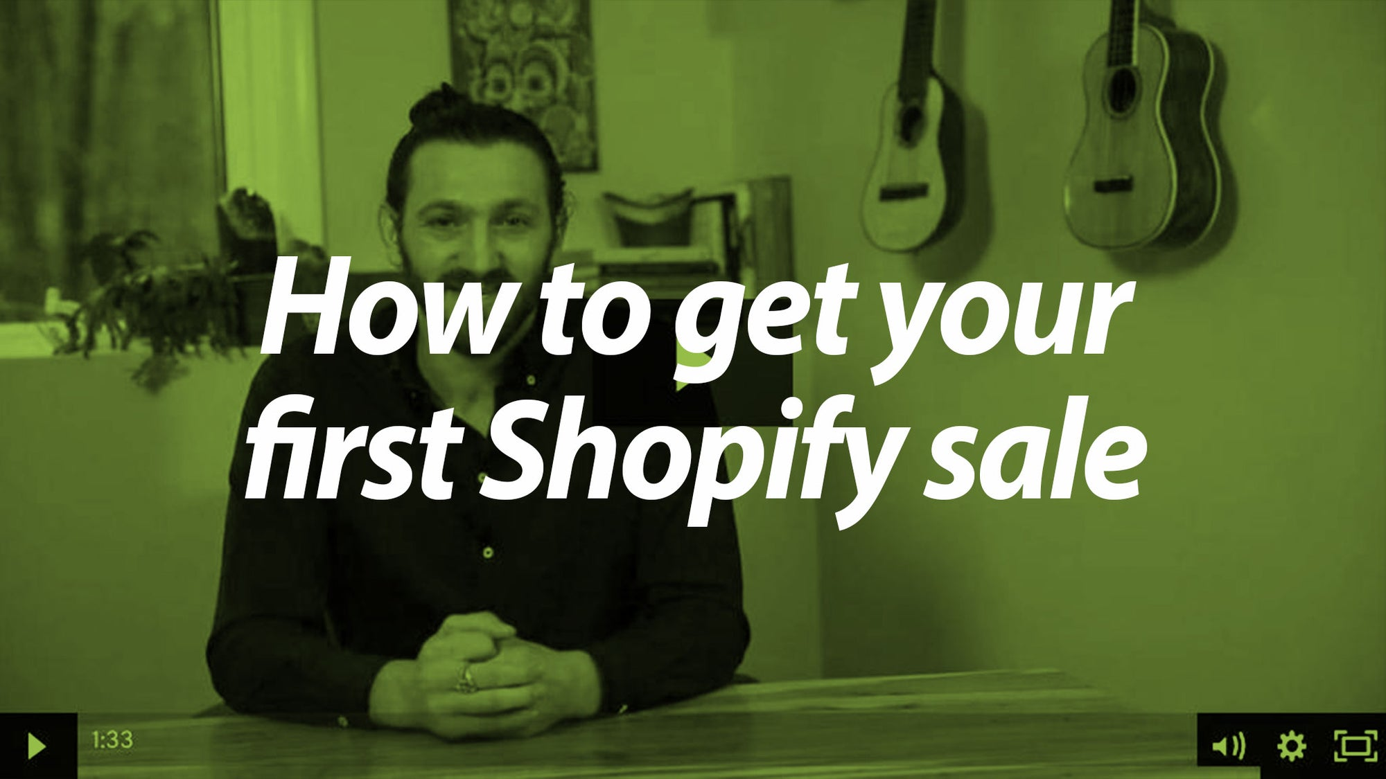 How to get your first shopify sale