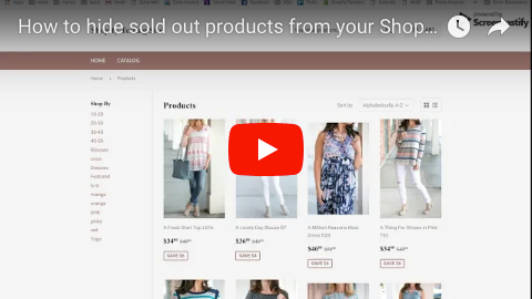 Hide sold out products from Shopify collections