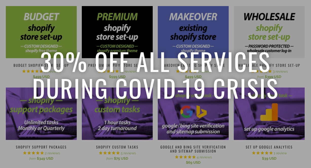 30% off all services during COVID-19 crisis