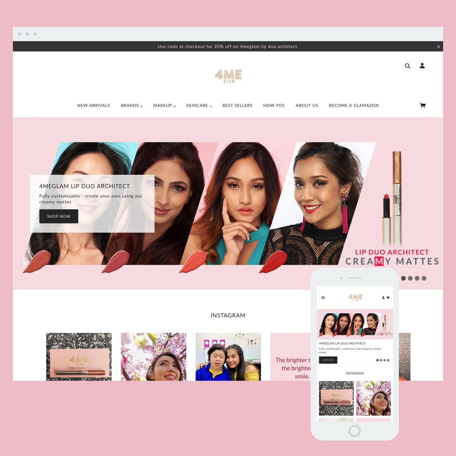 4MeGlam - Shopify store by Cooee Commerce