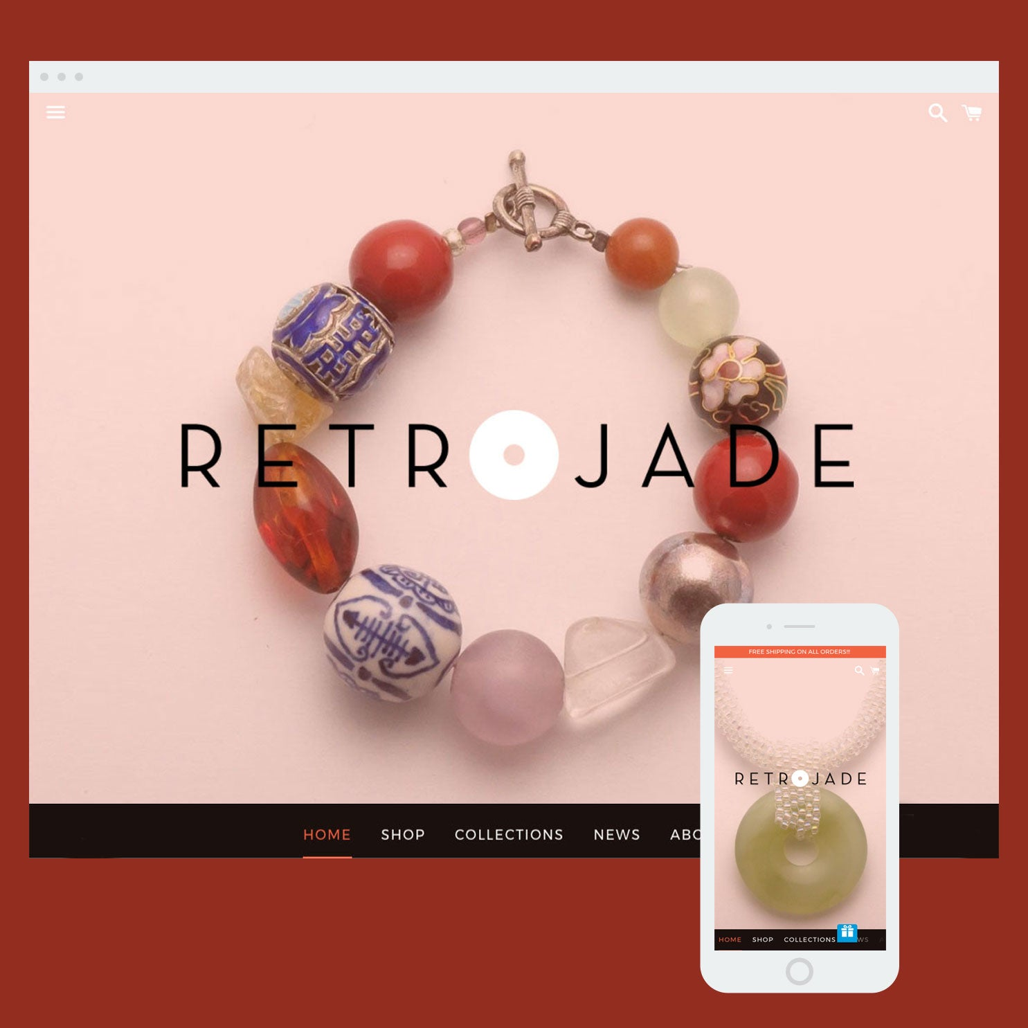 Retrojade - Shopify store by Cooee Commerce