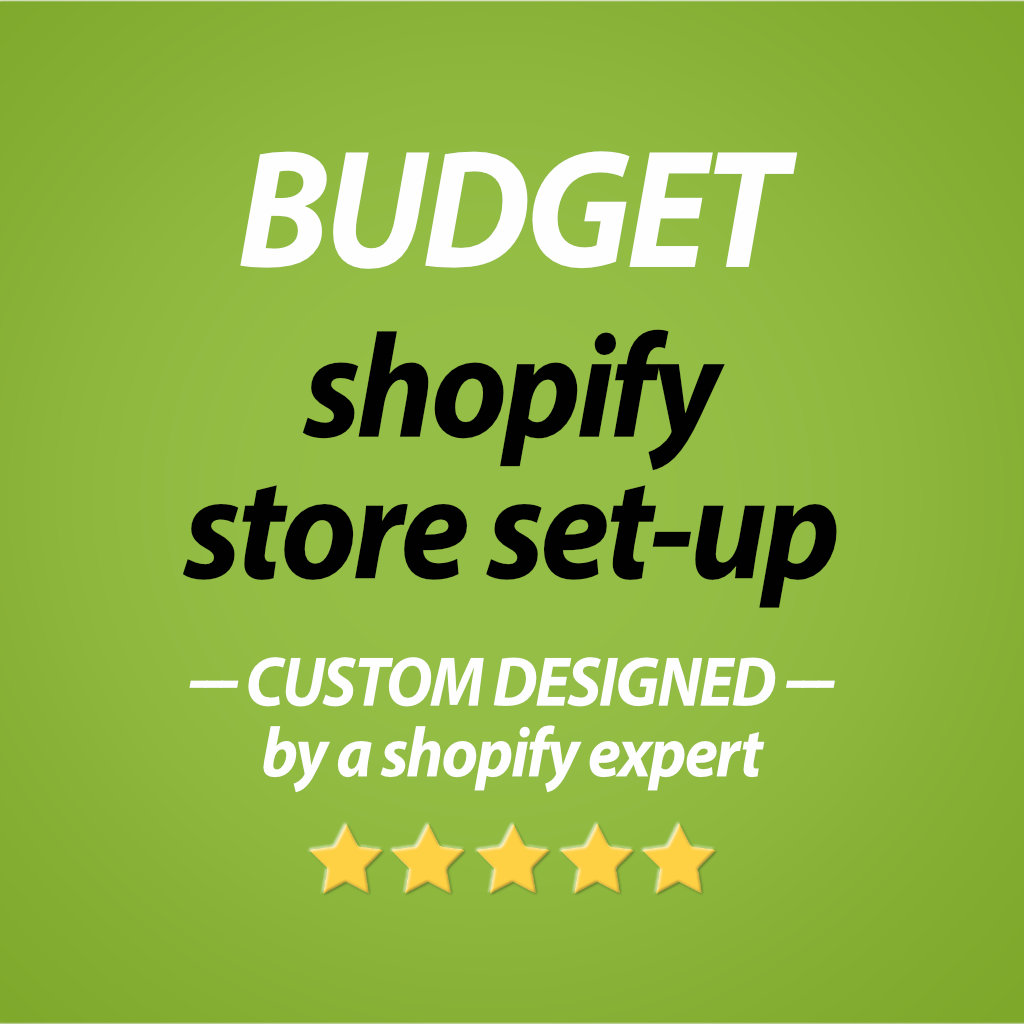 BUDGET Shopify store set-up - CooeeCommerce