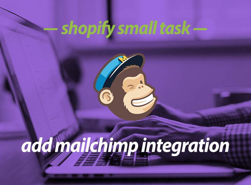 Add Mailchimp email to Shopify store - Shopify small task